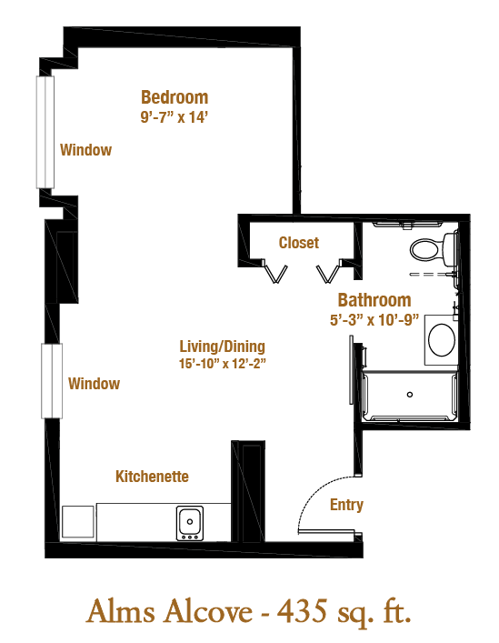 Marjorie P. Lee - Alms Alcove Floor Plan