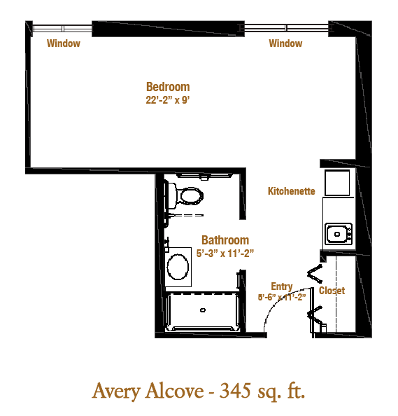 Marjorie P. Lee - Avery Alcove Floor Plan