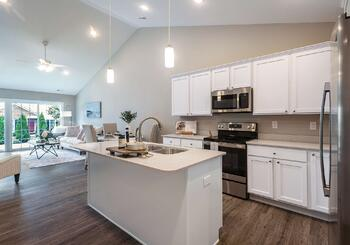 The Herrington open-concept kitchen at Dudley Square