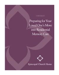 Episcopal Church Home - Memory Care Checklist