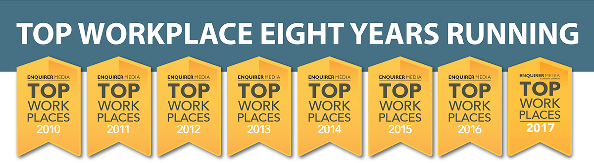 ERS is a TOP WORKPLACE eight years running.