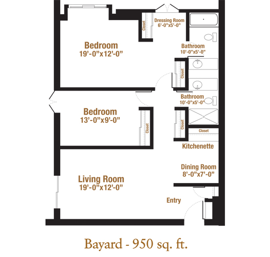 Marjorie P. Lee - Bayard Floor Plan