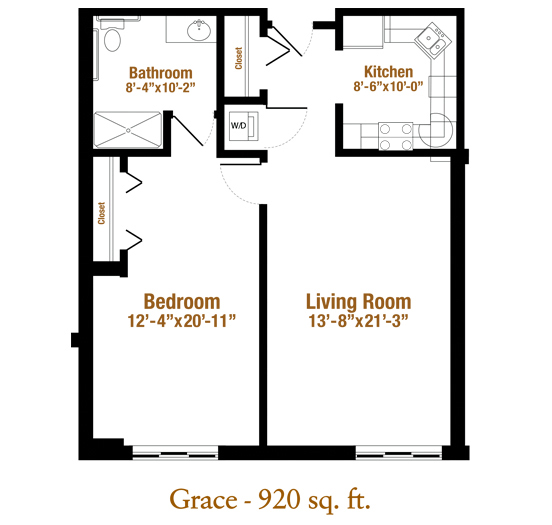 Marjorie P. Lee - Grace Floor Plan