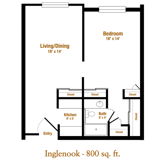 Marjorie P. Lee - Inglenook Floor Plan