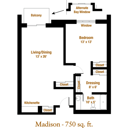 Marjorie P. Lee - Madison Floor Plan