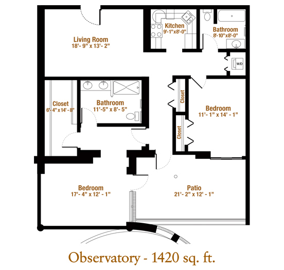 Marjorie P. Lee - Observatory Floor plan