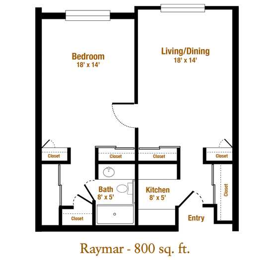 Marjorie P. Lee - Raymar Floor Plan