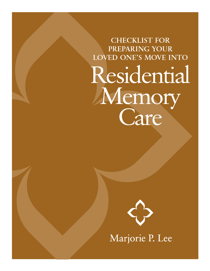 Marjorie P. Lee - Memory Checklist
