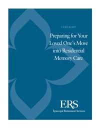 ERS - Memory Care Checklist