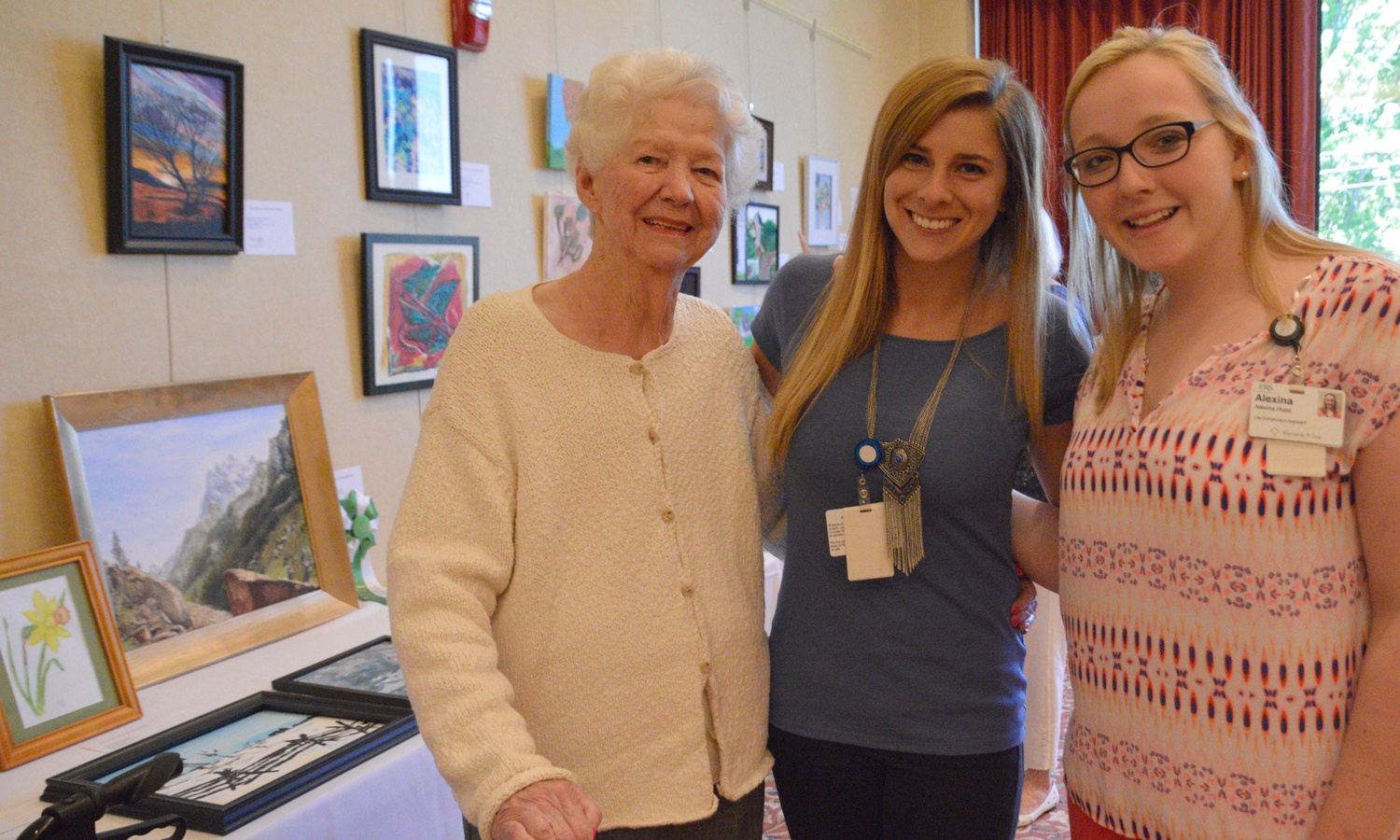 Residents of Deupree Cottages at the LeadingAge Regional Art Show
