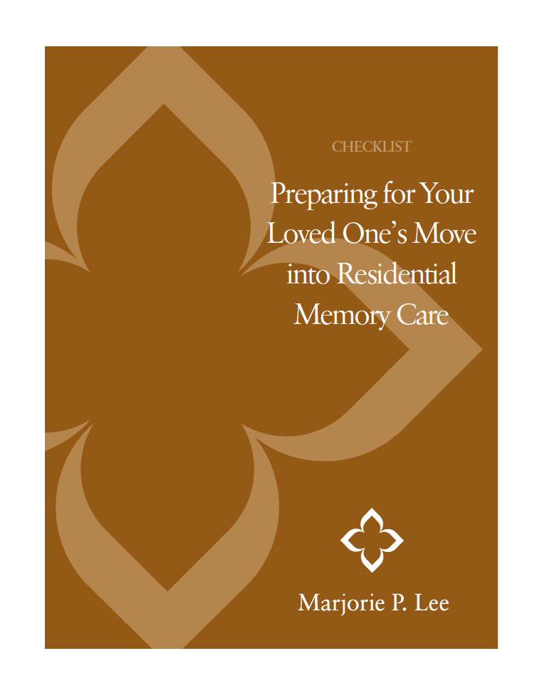 Memory Care Checklist - Marjorie P. Lee