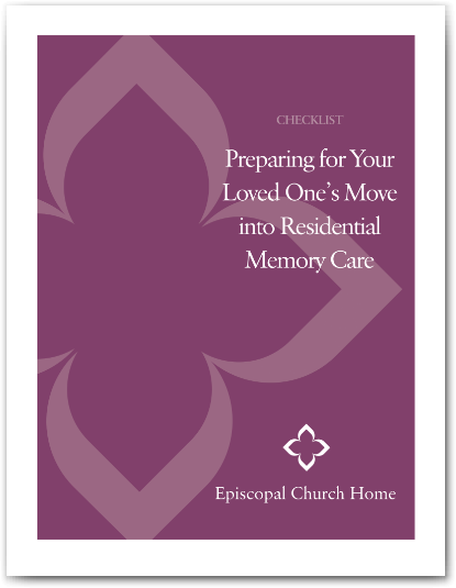 Memory Care Checklist by Episcopal Church Home